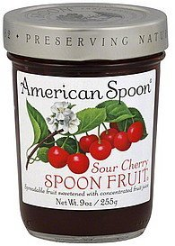 spoon fruit sour cherry American Spoon Nutrition info
