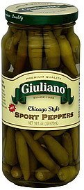 sport peppers chicago style, hot Giuliano Nutrition info
