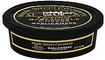 spreadable cheese gourmet, garlic & herb Maple Street Creamery Nutrition info