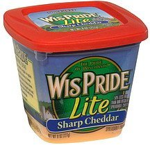 spreadable cheese sharp cheddar, lite WisPride Nutrition info