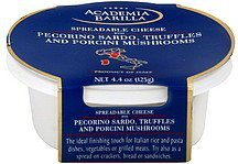spreadable cheese with pecorino sardo, truffles and porcini mushrooms Academia Barilla Nutrition info