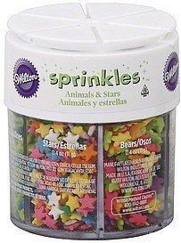 sprinkles animals & stars Wilton Nutrition info