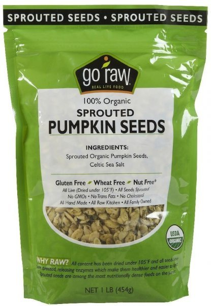 sprouted pumpkin seeds Go Raw Nutrition info