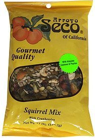 squirrel mix with cranberries Arroyo Seco of California Nutrition info