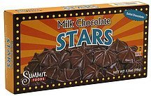 stars milk chocolate Summit Foods Nutrition info