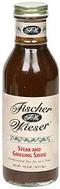 steak and grilling sauce Fischer & Wieser Nutrition info