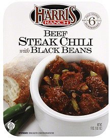 steak chili beef, with black beans Harris Ranch Nutrition info