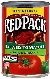 stewed tomatoes Red Pack Nutrition info