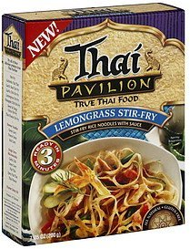 stir-fry rice noodles with sauce lemongrass stir-fry Thai Pavilion Nutrition info