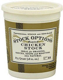 stock roasted chicken Stock Options Nutrition info