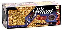 stoned wheat crackers with cracked pepper Brownstone Baking Co. Nutrition info