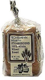 stoneground 100% whole wheat bread Bohemian Hearth Nutrition info