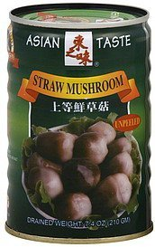 straw mushroom unpeeled Asian Taste Nutrition info