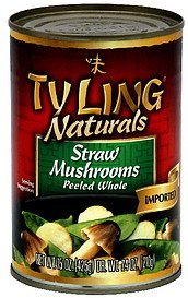 straw mushrooms peeled whole Ty Ling Nutrition info