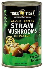 straw mushrooms whole peeled in water Tiger Tiger Nutrition info