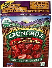 strawberries 100% organic Crunchies Nutrition info