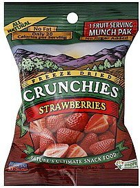strawberries freeze dried Crunchies Nutrition info