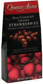 strawberries milk chocolate covered Queen Anne Nutrition info