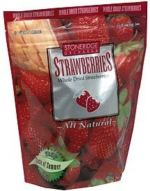 strawberries whole dried Stoneridge Orchards Nutrition info