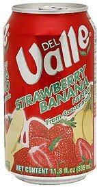 strawberry banana nectar Del Valle Nutrition info