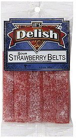 strawberry belts sour Its Delish Nutrition info