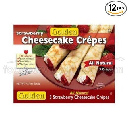 strawberry cheesecake crepes Golden Nutrition info