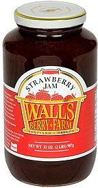 strawberry jam Walls Berry Farm Nutrition info