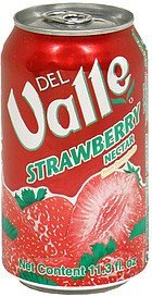 strawberry nectar from concentrate Del Valle Nutrition info