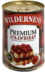 strawberry pie filling or topping premium Wilderness Nutrition info