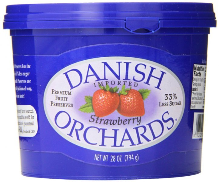 strawberry preserves Danish Orchards Nutrition info