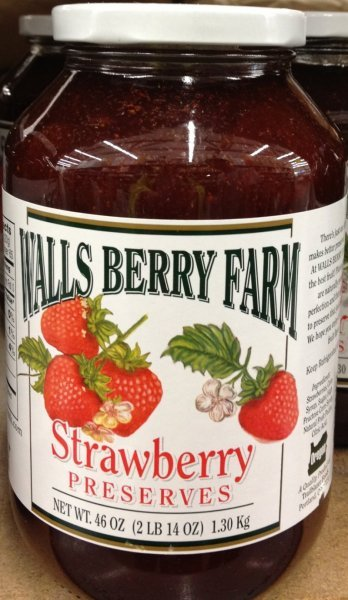 strawberry preserves Walls Berry Farm Nutrition info