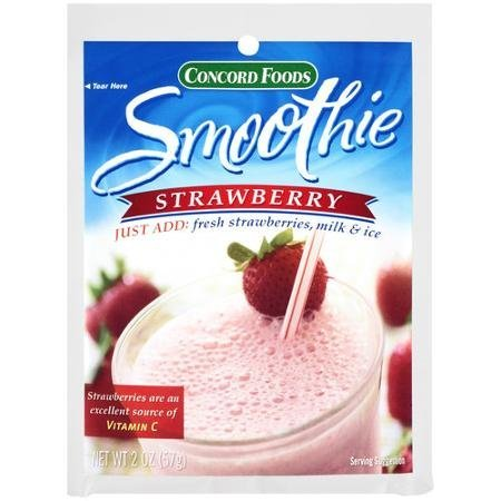 strawberry smoothie mix Concord Foods Nutrition info
