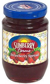 strawberry spread Sunberry Farms Nutrition info