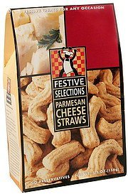 straws parmesan cheese Festive Selections Nutrition info
