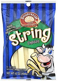string cheese part skim mozzarella Shurfresh Nutrition info