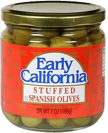 stuffed spanish olives Early California Nutrition info