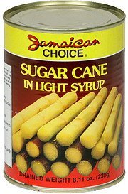 sugar cane in light syrup Jamaican Choice Nutrition info