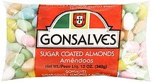 sugar coated almonds Gonsalves Nutrition info