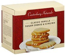 sugar cookie & icing mix classic vanilla Canterbury Naturals Nutrition info