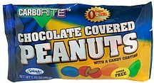 sugar free chocolate covered peanuts with candy coating CarboRite Nutrition info