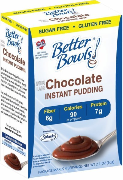 sugar free chocolate pudding Better Bowls Nutrition info