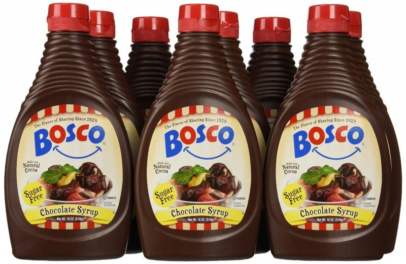 sugar free chocolate syrup Bosco Nutrition info