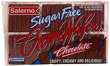 sugar free creme wafers chocolate Salerno Nutrition info