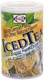 sugar free drink mix iced tea Super G Nutrition info