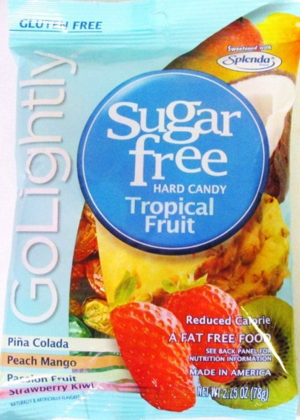 sugar free hard candy tropical fruit GoLightly Nutrition info