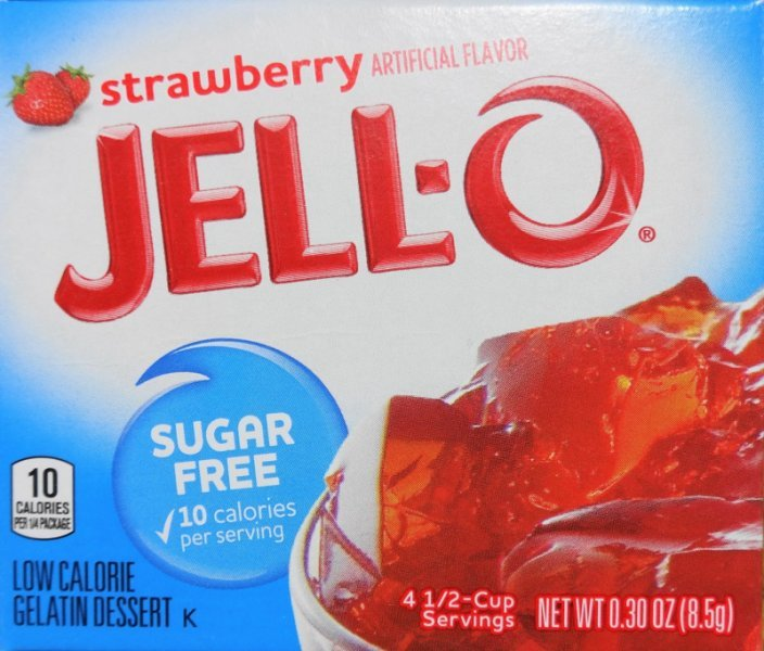 sugar free strawberry gelatin Jell-o Nutrition info