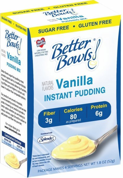 sugar-free vanilla pudding Better Bowls Nutrition info