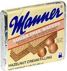 sugar free wafers hazelnut Manner Nutrition info