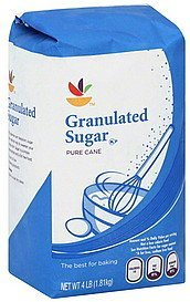 sugar granulated, pure cane Ahold Nutrition info