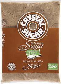 sugar light brown Crystal Sugar Nutrition info
